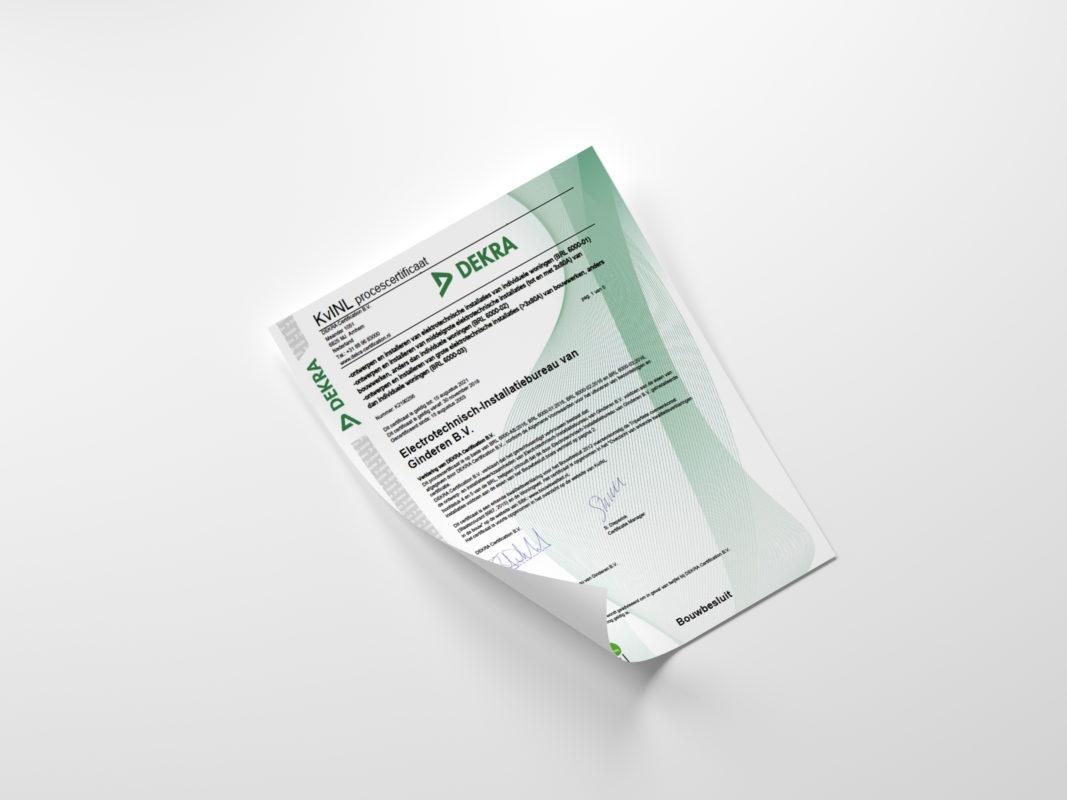 certificaat van ginderen den haag